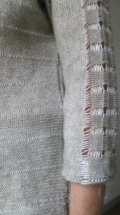 Sommerstrickpulli aus dem Strickkurs, Strickunterricht