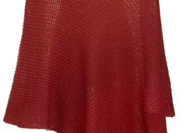 roter Poncho