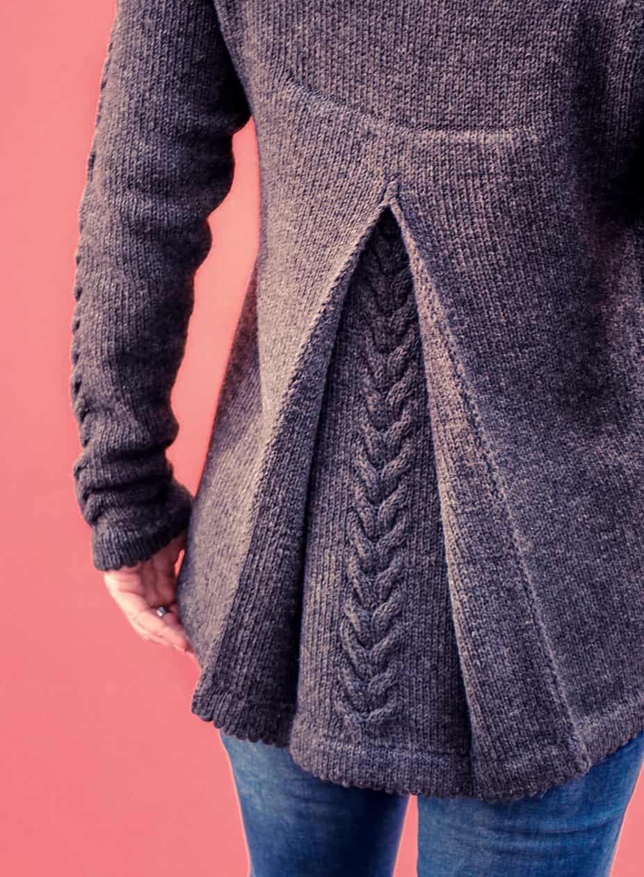 Almstrick Pullover Rückenfalte