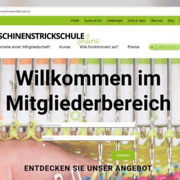 Screenshot mitgliederbereich