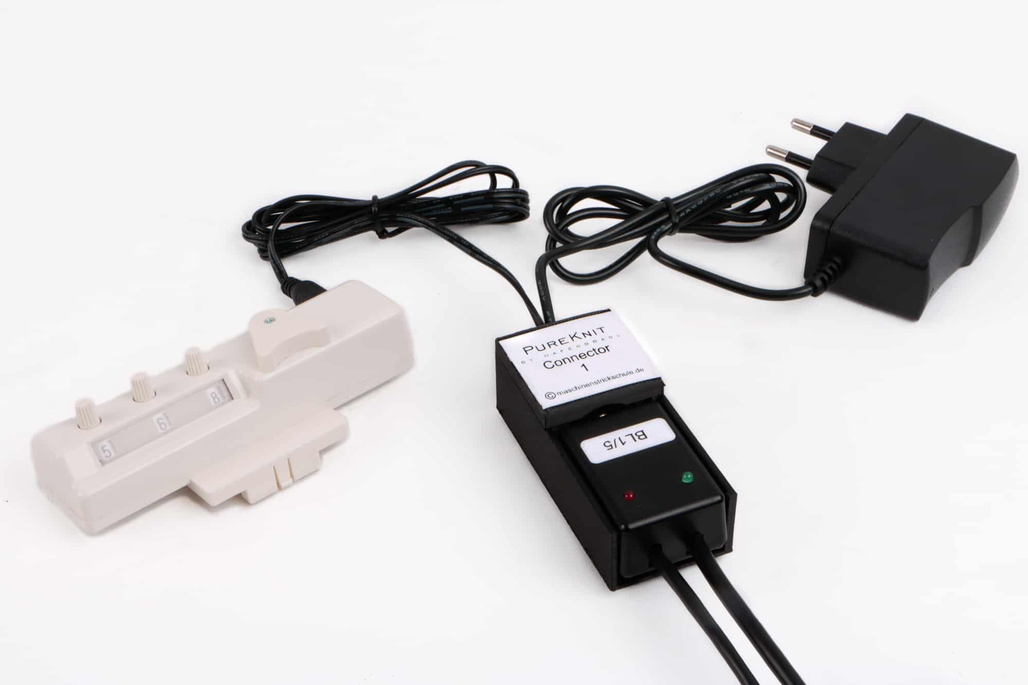 PureKnit Connector 1 an BL 1 und Reihenzähler