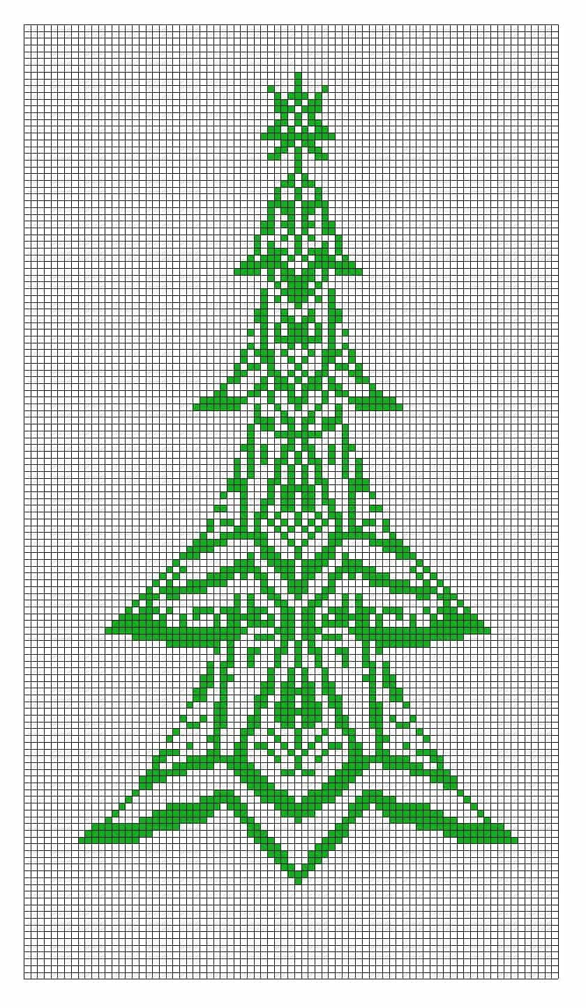 Musterzeichnung Weihnachtsbaum - Werner Hafenbradl