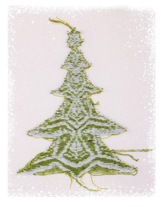 Weihnachtsbaum 2020 Rückseite mit Glitzer