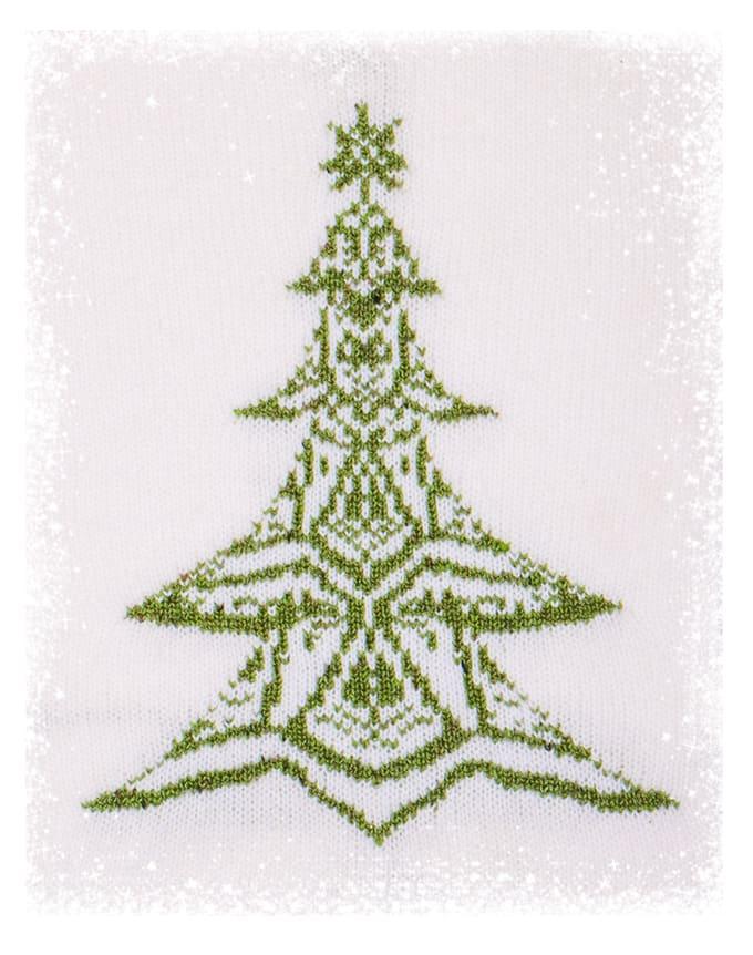 Weihnachtsbaum 2020 Vorderseite mit Glitzer