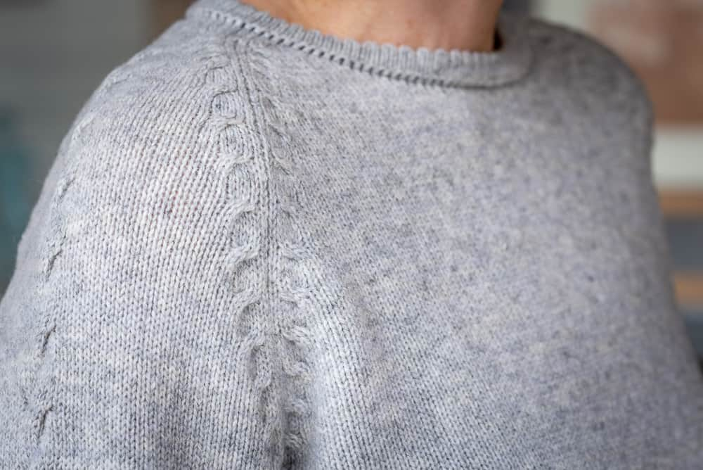 Pullover Almstrick Detail Schulter